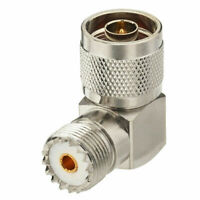 Right Angle N Type Male to UHF SO-239 Female  jack Adapter Connector 90 degree
