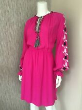 07f162739245 BiBA Hot Pink Crepe Boho Dress Size UK 10 Retail