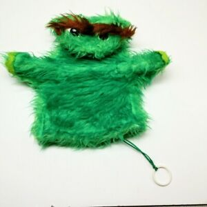 Vtg 1970's Sesame Street Oscar The Grouch Plush Hand Puppet With Movable Arms