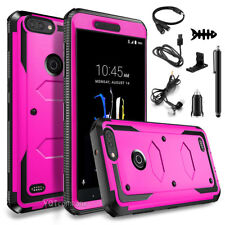 For ZTE Blade Z Max / ZTE Sequoia Z982 Case Hybrid Protective Armor Rugged Cover