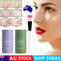 Green Tea Eggplant Purifying Clay Stick Mask Skin Oil Control Anti-Acne Solid