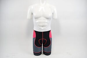 Verge Women's XS Primo Power Cycling Bib Shorts Black/Grey/Fuschia