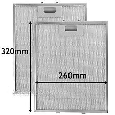 2 Metal Mesh Filters For MIELE Cooker Hood Vent filter 320 x 260 mm