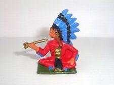 Figura Antigua Starlux Serie Farwest 1965 : Sioux Fumando Pipa Ref 5168