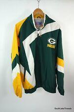 Vintage Men' s Starter NFL Green Bay Packers Lined Windbreaker Jacket Large