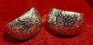 Magnifique boucle d'oreille créole earring  Argent silver ENVOI INTERNATIONAL