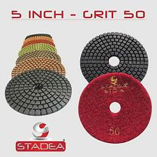 "STADEA 5"" Diamond Polishing Pad Grit 50 for Granite Concrete Wet Grinder Floor"