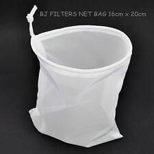 1 -MULTI-PURPOSE FINE MESH NET BAG 16cm X 20cm.STRAINING=KEFIR=NUT MILK=TEA=ETC