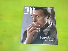 DAVID BOWIE - -M - LE MONDE - FRENCH MAG FROM  2016 !!!!!!!!!!!