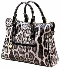 Breezy Couture HIGH FASHION SNAKE SKIN TOTE HAND SHOULDER STRAP BAG PURSE ** NIB