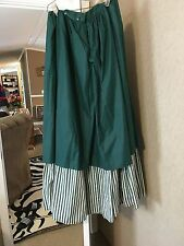 Civil War reenacting skirt, preowned, size 8/10, green and white