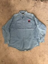 WCW Monday Nitro TNT Denim Long Sleeve Button Down Shirt Vintage Size XL WWF ECW