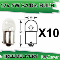 10x RW207 Bulb 12v 5w SCC BA15s Side and Tail Bulbs