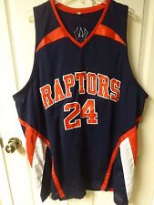 Vintage Toronto Raptors # 24 Premium Stitched Basketball Jersey Mens 3XL