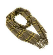 100% Pure Cashmere Scarf Khaki Check Classic  Scarves for Men & Women