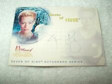 Star Trek Autograph Card Voyager Jeri Ryan as Seven of Nine in Drone SA1