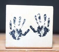 Tiny Hands Prints Baby Craft Smart Wood & Foam Backed Rubber Stamp
