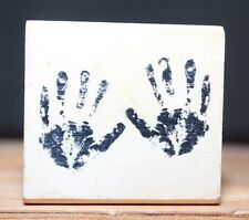 Tiny Hands Prints Craft Smart Wood & Foam Backed Rubber Stamp