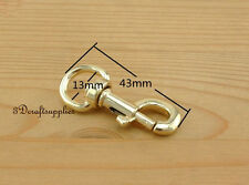 Lobster Clasps Clips Claw purse hooks bolt snap hook light gold 13mm 6pcs G55
