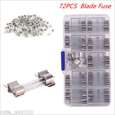 Car Boat Blade Fuse Box Holder New 72pcs Assorted Set Kit Blade Fuse Universal