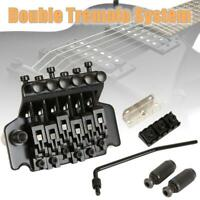 Floyd Rose Double Locking Tremolo System Bridge for Electric Guitar Parts Black