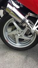 Honda VFR800fi Chrome centre bung & nut covers Rear wheel Swing arm KIT 2001