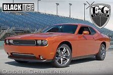 2011-2014 Dodge Challenger 2pc Fine Mesh Grille - Black Ice - Stainless Steel