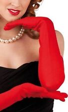 Gants rouges stretch extra longs 60 cm sexy pinup retro