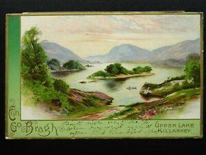 Ireland Kerry Killarney ERIN GO BRAGH Upper Lake c1905 Postcard