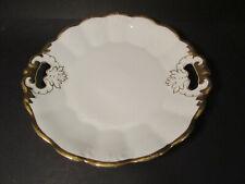 Prunkvoller Tielsch Altwasser Porzellan Teller Schale, reichlich Golddekor
