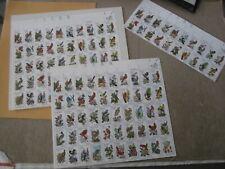 USA 1982 State Birds+Flowers 2 Full Sheets+Sheet Top Strip of 20 CV$78 FV$24