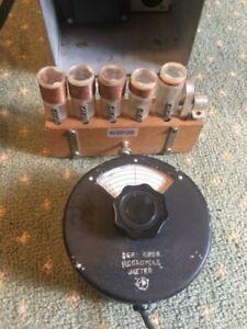 Measurements Corp Megacycle Meter Model 59 Grid Dip Meter Working w/all coils