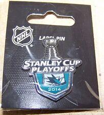 2014 Stanley Cup Playoffs logo lapel pin NHL SC SJ San Jose Sharks