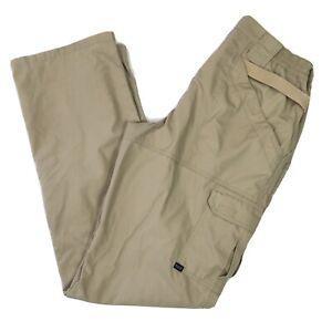 5.11 Tactical Taclite Pro Pants Size Khaki Tan Size 12 Inseam 34 Womens