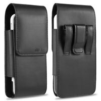 Vertical Leather Pouch Case Cover Belt Clip Holster For Large XL Phones Otterbox