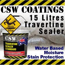 15L Travertine Sealer - Moisture Stain Protection - Non Slip - Water Based