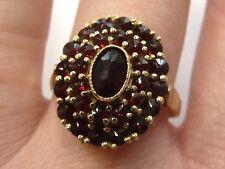 14ct Gold Vintage Handmade Garnet Cluster Ring Size N 1/2