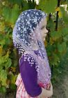 Beautiful Catholic Mass Veil or Mantilla with silver thread  Your Color Choice