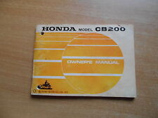 Rider`s Owner`s manual Honda CB 200 (1973)