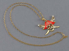 Pirate Skull Necklace Jack Sparrow Fancy Dress