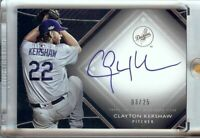Clayton Kershaw 2017 Topps Diamond Icons Auto Autograph LA Dodgers #CK 03/25