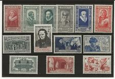 France 1939-45 thirteen stamps in complete sets all MNH
