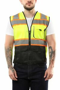 KV02 - Kolossus Deluxe High Visibility Vest with Multi Frontal Pockets   ANSI Cl
