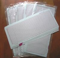 50 BLANK PUNCHCARD (24 Stitch) machine knitting Brother/SilverReed/Studio/Singer