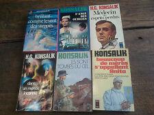 Lot de 6 livres de Konsalik dans un monde inconnu Ils sont tombés du ciel L'ange