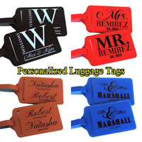 Pair (2) Personalized Luggage Tag Travel Accessories Custom Luggage Tags Gift d