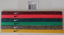 Nike Printed Headbands Assorted 6 Pack Black/Ember Glow & Multicolor New