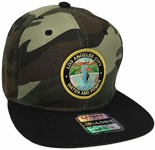 City Of Los Angeles Water And Power Hat Color Camo Black DWP Hat Snapback