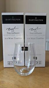Dartington Tony Laithwaite Signature Series 4 × stemless wine tumbler New - BNIB