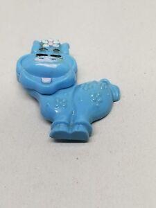 Avon kids Fragrance Holder Blue Hippo Pin Empty